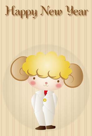 タキシードの羊茶系背景
