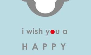 シンプルデザイン|おしゃれな猿のイラスト年賀状【無料】