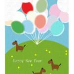 年賀状午年 風船とお馬さん【無料ダウンロード】
