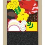 【無料イラスト年賀状】おせち料理