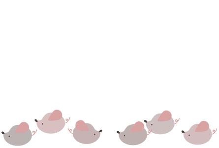 かわいい子ネズミのシンプルイラスト年賀状【無料】